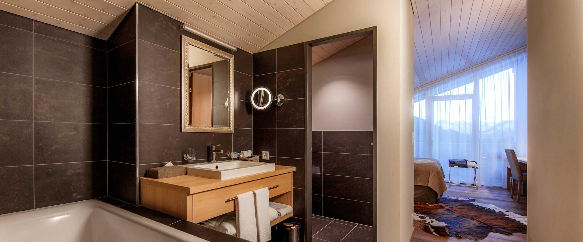 Valbealla Resort Zimmer mit Bad